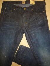 PRPS RAMBLER Dark Blue Mens 36 Fits Slim 34 x 34 Orig. $250+Splatter Jeans Sale!