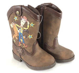 Boys' Disney Bullseye Woody Toy Story Brown Western Boots Toddler Size 5 US NWT