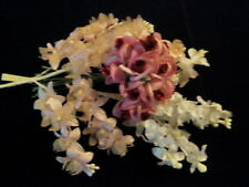 "Vintage Millinery Flower Collection 1"" Pink White  Doll Size  H2144"