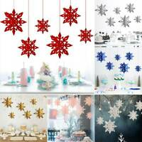 6PCS Party Decoration Snowflake Window Hanging Ornament Room Wedding Party Deco