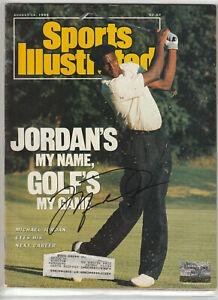 Michael Jordan Autograph Magazine w/ *COA* CERTIFIED Hand Signed Chicago Bulls