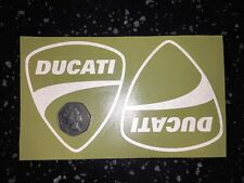 2x DUCATI Shields Reflective SAFETY Motorcycle Helmet Sticker Hi Viz France