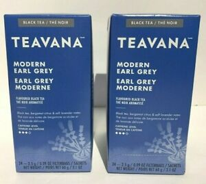 Teavana Modern Earl Grey Tea   24 Count Box BB 05/NOV/2019