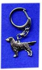 Flat Coated Retriever Nickel Silver Key Ring Chain Jewelry Last One!