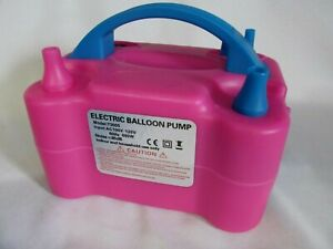 110V 600W High Power Two Nozzle Pink Air Blower Electric Balloon Inflator Pump