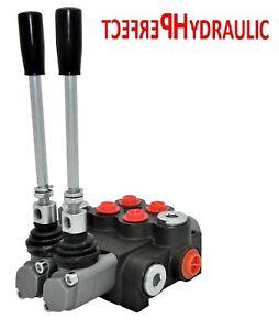 1x FLOATING 2 Spool Hydraulic Directional Control Valves 1x DA Double 40L 11 gpm
