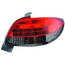 Coppia fari fanali posteriori TUNING PEUGEOT 206 98-05 3/5 porte LED ROSSI/NERI