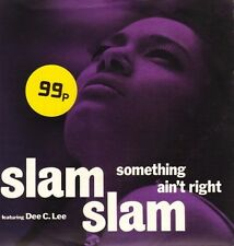 """SLAM SLAM something ain't right/what dreams are made of MCA 1444 7"""" PS EX/EX sos"""