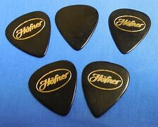 NOS LOT OF 5 EXTRA HEAVY HOFNER 351 BLACK AND GOLD GUITAR PICKS