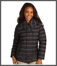 NWT Merrell Keely 80% Goose Down Jacket Black Stripe Size XS