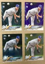 4 Brandon Woodruff 2018 Topps #179 BLACK RC/PRPL/GOLD/Chrome AUTO RC lot Brewers
