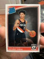 2018-19 Donruss Optic Rated Rookie #186 Anfernee Simons Blazers - QTY