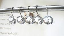 12PCS/Pack Decorative Diamond Rhinestone Shower Curtain Hooks For Home Bathroom