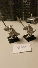 Warhammer Lizardmen Temple Guard metal x 2 Games Workshop
