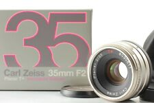 ***Mint*** Contax Carl Zeiss Planar 35mm f2 T* Lens w/ Poach Box From Japan #484