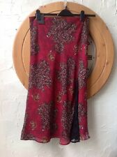 👀Definitions👀UK16(EU44) Red/brown Floral Skirt-Party/cruise-BNWT-SALE