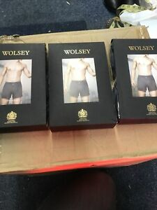 Wolsey Mens Chambray Vintage Boxers Xxl = 3 Pairs