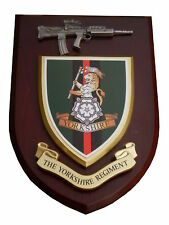 Yorkshire Regiment Military Wall Plaque+ Pewter SA80