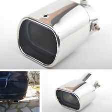 Universal 63mm Car Curved Exhaust Tip Tail Rear Muffler Pipe Stainless Steel