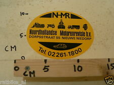 STICKER,DECAL NHR NOORDHOLLANDSE MOTORENREVISIE BV NIEUWE NIEDORP