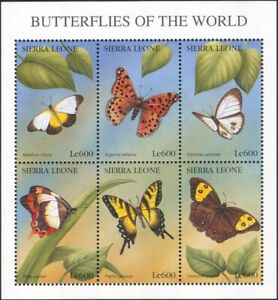 Sierra Leone 1997 Butterflies/Insects/Nature/Conservation/Butterfly m/s (s3781u)