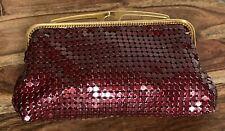 Red glow mesh clutch purse