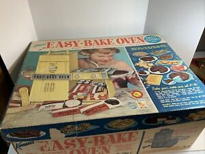 Vintage 1960s Kenner Easy Bake Oven Yellow w/Original Box #1600 Works