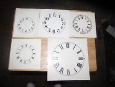Assortment of 10 Vintage Replacement Clock Dials - NOS!
