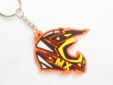 MX HELMET Orange KTM color motocross - keychains - porte clefs - llaveros