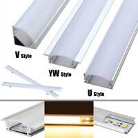 30/50cm Alu Profil Schiene Abdeckung U/V/YW Profilleiste für LED Strip Leiste