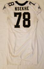#78 Ty Nsekhe Authentic Nike Game Worn Jersey from New Orleans Saints