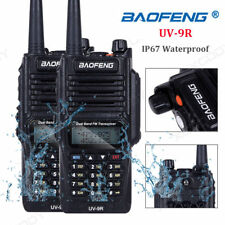 BaoFeng Waterproof 2PCS UV-9R LCD Walkie Talkie UHF400-520MHZ 2-Way Radio 128CH