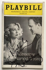 NATASHA RICHARDSON JOHN C. REILLY Signed A STREETCAR NAMED DESIRE Playbill