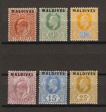 MALDIVE ISLANDS 1906 SG 1/6 MINT Cat £300