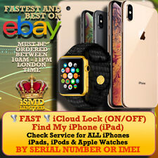 CHECK ICLOUD FMI STATUS BY SERIAL IMEI NUMBER FOR iPhone iPad APPLE Watch iPod