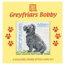 Greyfriars Bobby Dog Card Counted Cross Stitch Kit