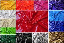 Lackleder Imitat Latex-Glanz elastischer Stoff für Jacke Mantel Rock Bekleidung