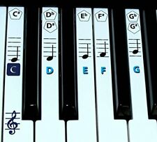 Piano sticker key and Keyboard Music Note Stickers Learning Piano Label Decal