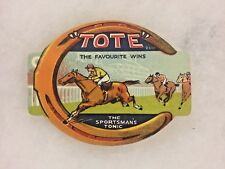 Vintage Unused 1930's Horse Racing Tote Sportsman's Tonic Soda Bottle Label