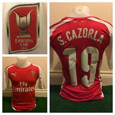 Santi Cazorla Arsenal Emirates Taza de Superdry de especificaciones de jugador no match worn emitido España