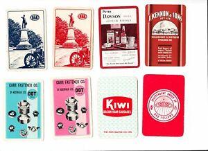 GA124  Vintage swap Cards mix bag australiana adverts industry whisky plus 1x nz