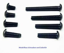 Linsenkopfschrauben ISO 7380 M3  M4-schwarz-Stahl-hochfest 10.9 -ab 2 Stück