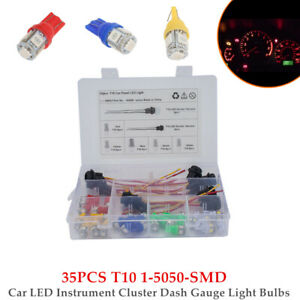 35PCS 12V T10 1-5050-SMD LED Car Instrument Cluster Dash Gauge Light Bulbs W/Box