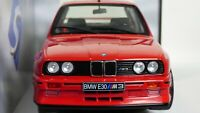 Rare 1:18 Red Diecast BMW M3 E30 1990 Toy Model Car M Power Turing Champion New