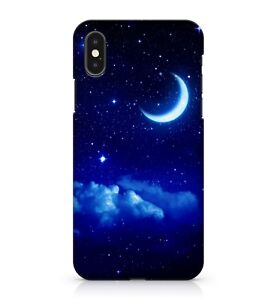 Tremendous Terrific Crescent Moon Cloudy Blue Starry Galaxy Sky Phone Case Cover