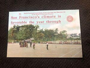 1910 Postcard--CALIFORNIA-San Francisco--Golden Gate Park--Tennis Courts--PPIE