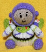 KNITTING PATTERN - Buzz Lightyear inspired choc orange cover / 13 cms Toy story