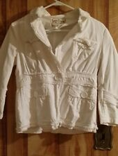 Sugar Lips White jacket, JUNIOR M, gently used, beautiful detail! SUPER CUTE