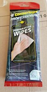 CornerTape Alcohol Degreaser Prep-Wipes Tiles Silicone Sealing Tape Grout Caulk