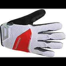 Shimano Explorer Long Cycling Gloves Red/White/Black Road/Mountain Men's SMALL